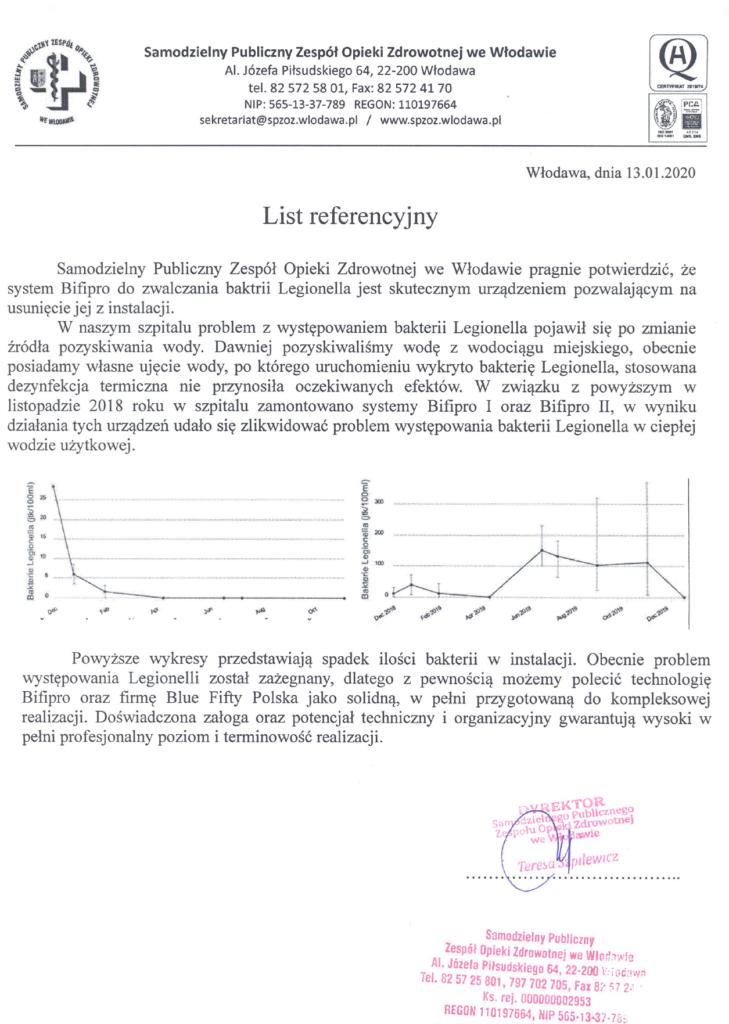 szpital wlodawa referencje bifipro